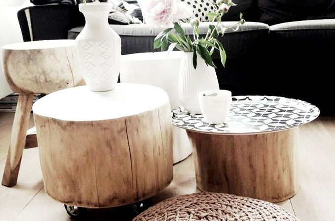 Een boomstamtafel maken is een leuke klus op een vrije zondag. Boomstammen zijn helemaal hip voor jouw interieur en functioneren ook nog goed als tafel.
