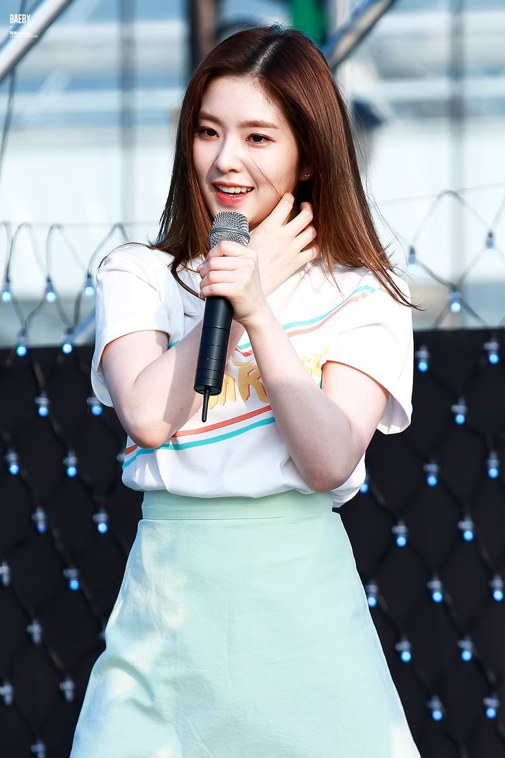 This is a picture of Irene from the Kpop girl band Red Velvet.