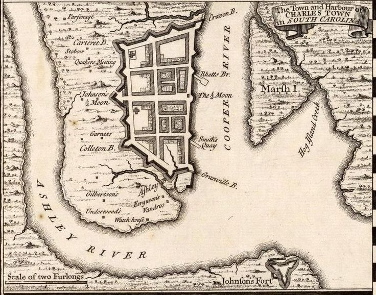 "This is 1733 map of Charleston (Charles Town), South Carolina. It is the setting for ""A Convenient Misfortune."""