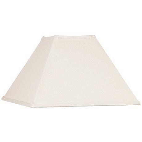 Beige Linen Square Lamp Shade 6x16x10 (Spider)