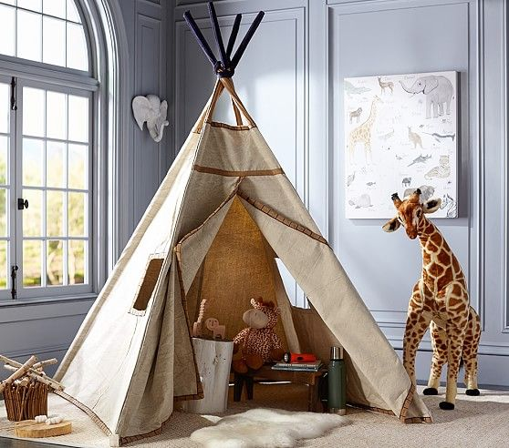 Navy Stitch Teepee | Pottery Barn Kids