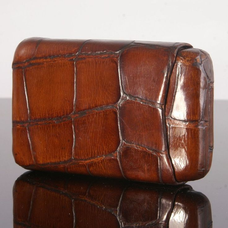 Victorian Crocodile Cigar Case by John Pound of London from agarichouse on Ruby Lane
