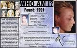 Warning: Morgue photo - Clear. Female. WHO IS SHE? Beautiful. Found in 1991