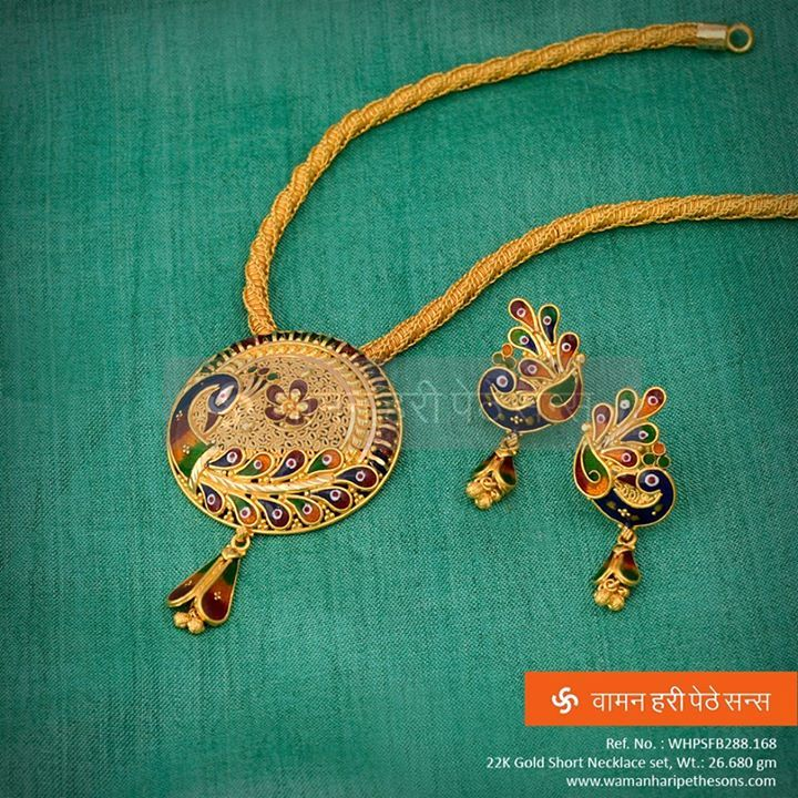 #Beautifully Designed and #Carved #Gold #Necklace with the touch of #Tradition on our display.
