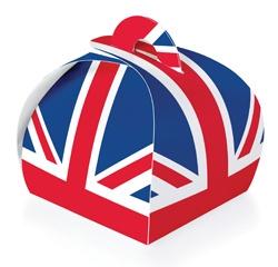 Union Jack ♔ Cupcake Box