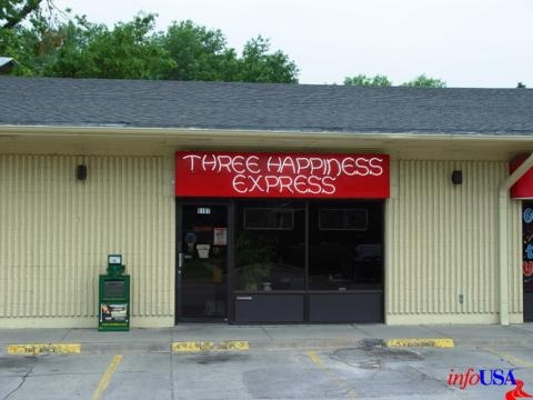 Three Happiness Express; 5103 Leavenworth Street, Omaha, NE.    Delicious Chinese food. MSG-free.