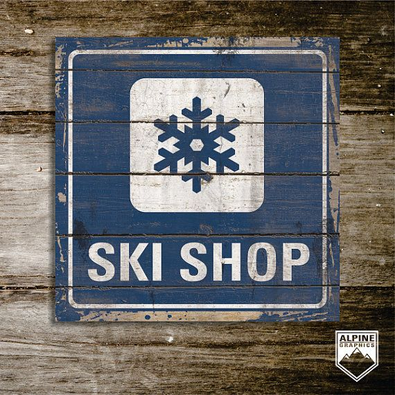 SKI SHOP original Alpine Graphics illustration  by AlpineGraphics