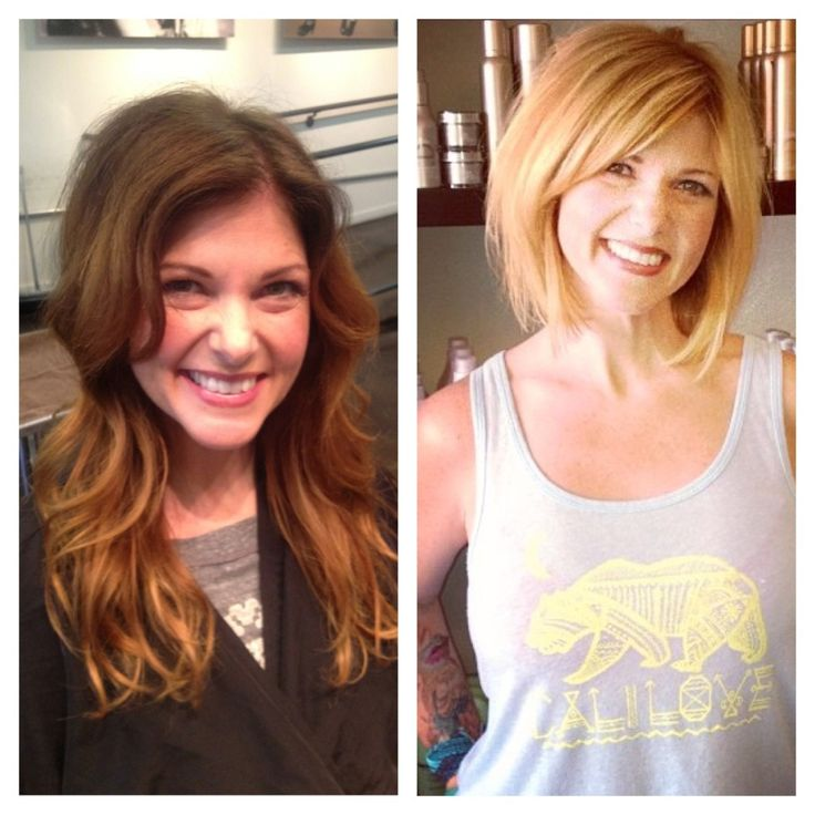 Andrea Miller hair. Before and after. San Diego. Color specialist. Corrective color. From brown to blonde in one day. The lab a salon. Balayage. Ombré blonde. Hair cut Adrianne Leher the lab a salon.