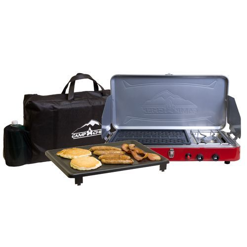 Camp Chef Rainier Campers Combo 2-Burner Portable Gas Grill