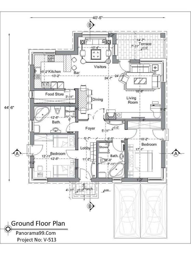 V 513 Modern One Story House Plan Bungalow Floor Plan Custom 2 Bedroom 2 Bathroom Simple Blue Print Tiny Home Ranch In 2021 Bungalow Floor Plans Bungalow House Plans Tiny House Floor Plans House plan vs floor plan