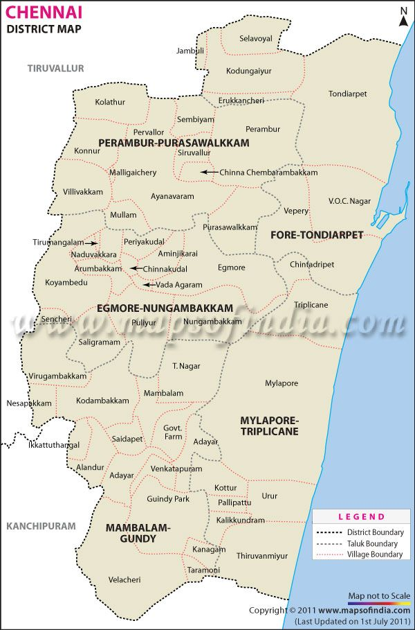 Chennai Map - India Map