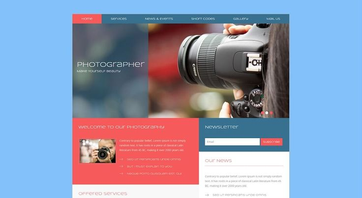 photographer free HTML website template