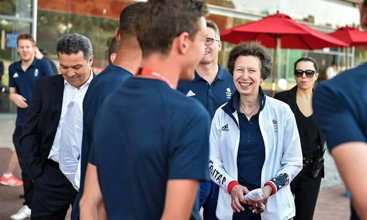 Raising morale amongst Team GB, Princess Anne visited the Olympic village to talk to the British athletes and to see how their final preparations were coming along.