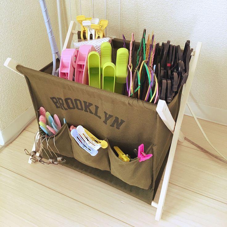 洗濯バサミ入れのインテリア実例   RoomClip (ルームクリップ) My Shelf/収納/100均/3Coins/ハンガー収納/収納アイデア/