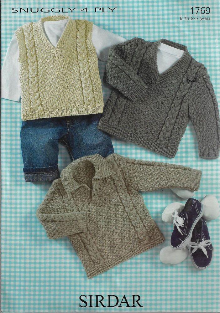 0b611da713b3 Baby   Child s Sweater   Vest Sirdar 1769 knitting pattern 4 ply ...