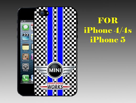 Mini Cooper Seamless - Print on Hard Cover iPhone 5 Black Case - iPhone 4/4s Case - Please Leave a Note For the Type Case and Color Case