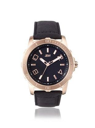 76% OFF JBW Men's J6281 Black Stainless Steel Watch