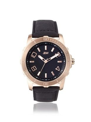 77% OFF JBW Men's J6281 Black Stainless Steel Watch