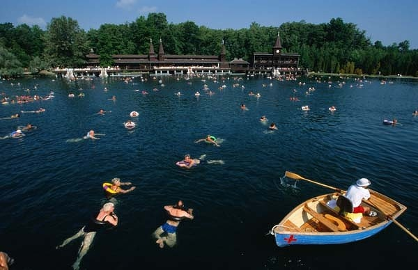 Lake Heviz, near Keszthely in Hungary, is the largest thermal lake in Europe