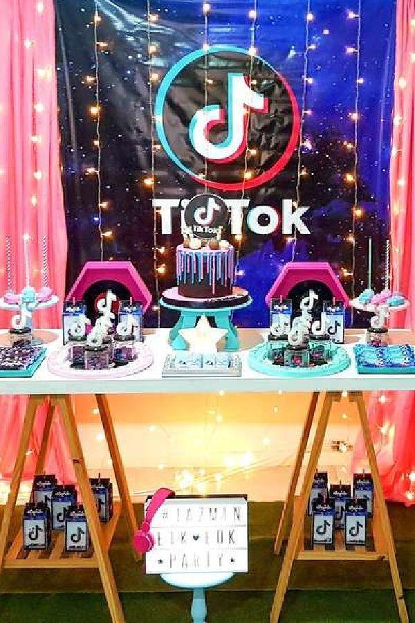 Tik Tok Birthday Party Ideas Photo 1 Of 13 In 2021 Girls Birthday Party Themes Birthday Party Themes Girls Birthday Party