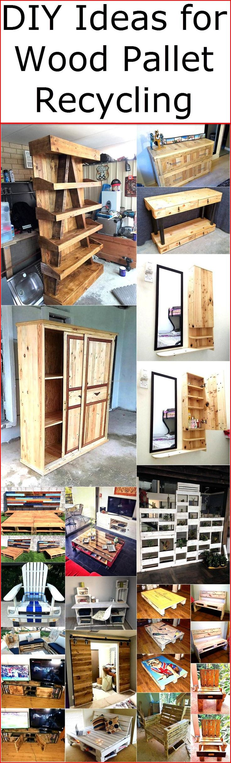 There are unlimited DIY ideas which can be created for the home by reshaping the wooden pallets, one can make as many innovative ideas using the wood pallets as he/she wants to adorn the home in a unique way by placing the items that are not available in anyone else's home. Wood pallet recycling is a great task as well as outstanding time pass activity which end up in getting something unique that helps in adorning the home innovatively.