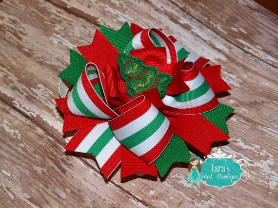 90 Best HAIRBOWS BABY! Images On Pinterest Hairbows Crowns And  - Christmas Tree Hair Bows