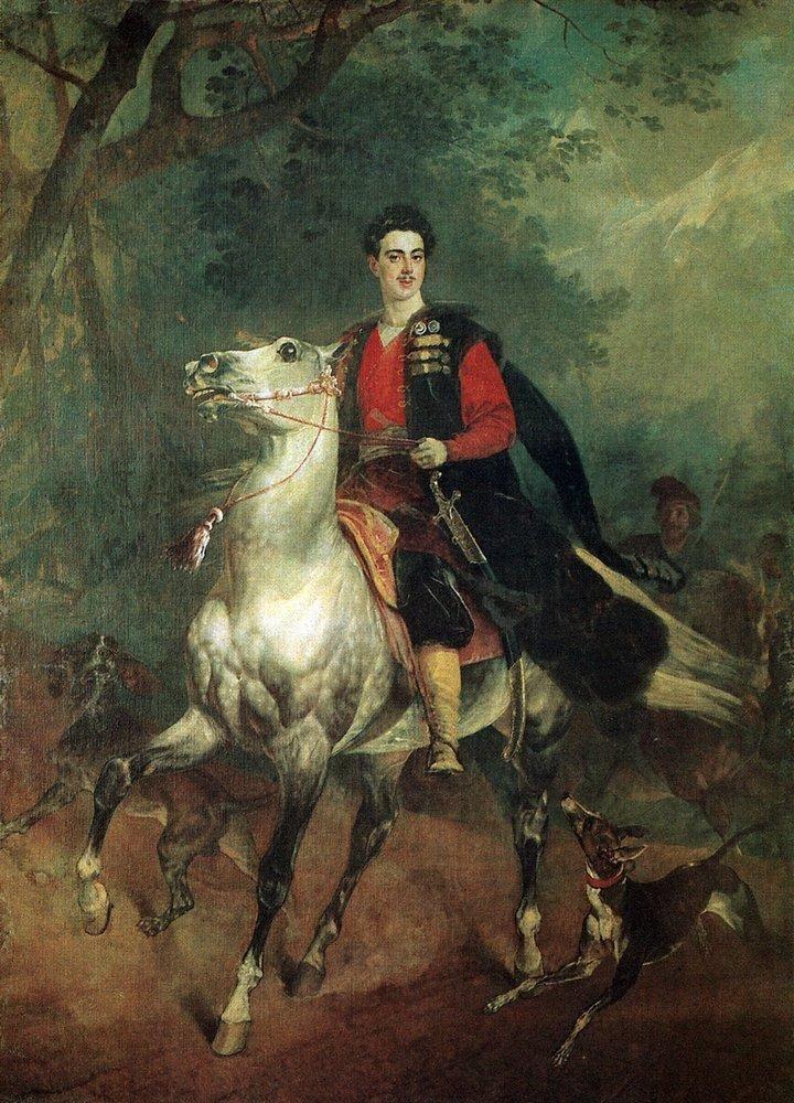 Портрет А.Н. Демидова. 1831-1852 (не окончен). Холст, масло. Галерея современного искусства, палаццо Питти, Флоренция.