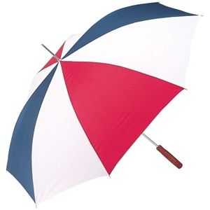 "Sporting events, outdoor concerts or just a plain rainy day, this 100% nylon umbrella will please even the most discriminating owner. Measures 48"" across the top. http://www.wholesalemart.com/Wholesale-Umbrellas-s/313.htm"