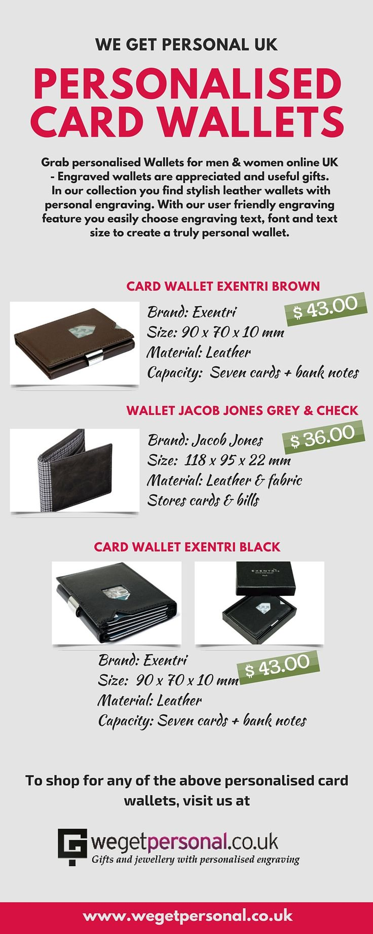 Personalised wallets are appreciated and useful gifts. These wallets are one of the most commonly used accessories in modern society. These can be engraved by the text of your own choice. Order your engraved wallet today. All engraved wallets are delivered quickly and shipping is free! #wallet #personalisedwallets #personalisedwallet #Engravedwallets