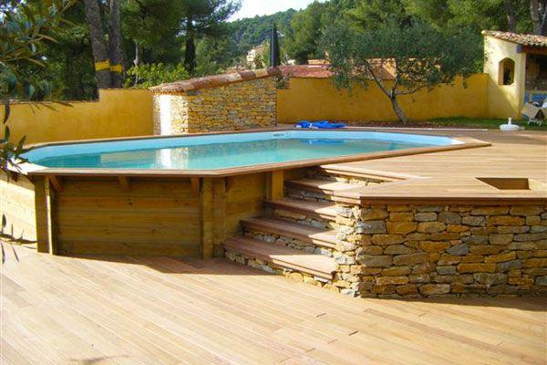 Piscines bois rectangulaires et octogonales (hors sol, semi enterrées, enterrées) sur 07210 Baix, en Ardèche proche de Privas, la Voulte, le Pouzin, Cruas et de Livron et Loriol en Drôme.