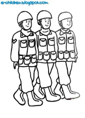 9 Εικόνες στρατιωτών - φαντάρων για ομαδική εργασία , κατασκευή σκηνικού γιορτής και γενικά για πολλαπλές χρήσεις.