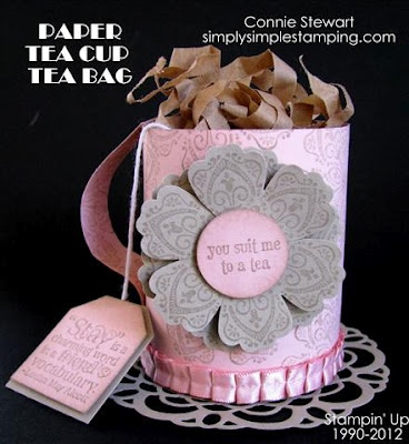 Tea Bag Gift Box made entirely of cardstock.  Video tutorial too at simplysimplestamping.com: Party Gift Bags, Tea Party, Tea Time, Ideas Rem, Cute Ideas, Tea Parties, Gifts, Tea Cups