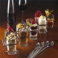 Dessert Shooters those mini-desserts you see on most restaurant menus these days are usually served in small glasses, some as small as 2 oz shot...