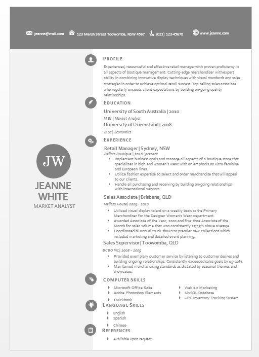 21 best Watercolour Résumés images on Pinterest Cover letters - business resume template word