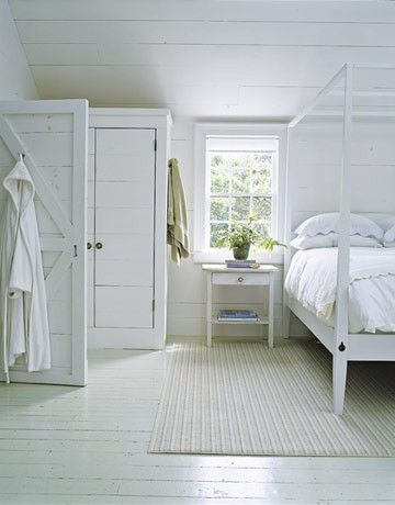 white comfortable cottage bedroom