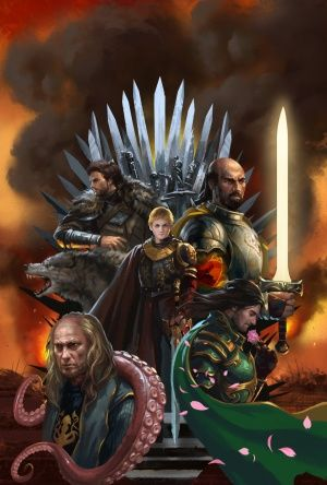 War of the Five Kings (298AC - 300AC) - Following the death of Robert I Baratheon, doubts about the legitimacy of his children caused his brothers, Stannis and Renly, to claim the Iron Throne as their own. When Eddard Stark is arrested by the Lannisters for treason, his son Robb declares himself King of the North and begins marching south. With the mainland in chaos, Balon Greyjoy and the ironmen seize the opportunity to renounce their allegiance as well.