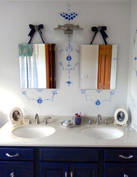 My Royal Copenhagen inspired bathroom
