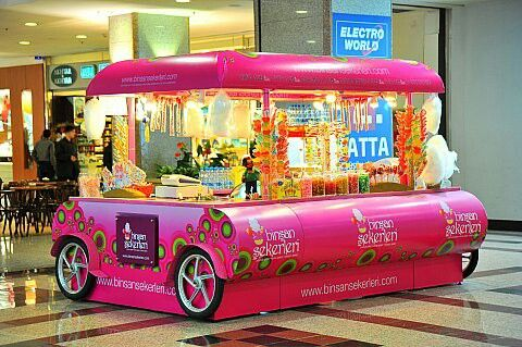 Lollipop şeker, Marshmallow, macun şeker, pamuk şeker, elma şeker, candy kiosk