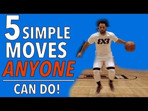 5 Simple Basketball Moves ANYONE CAN DO! - YouTube