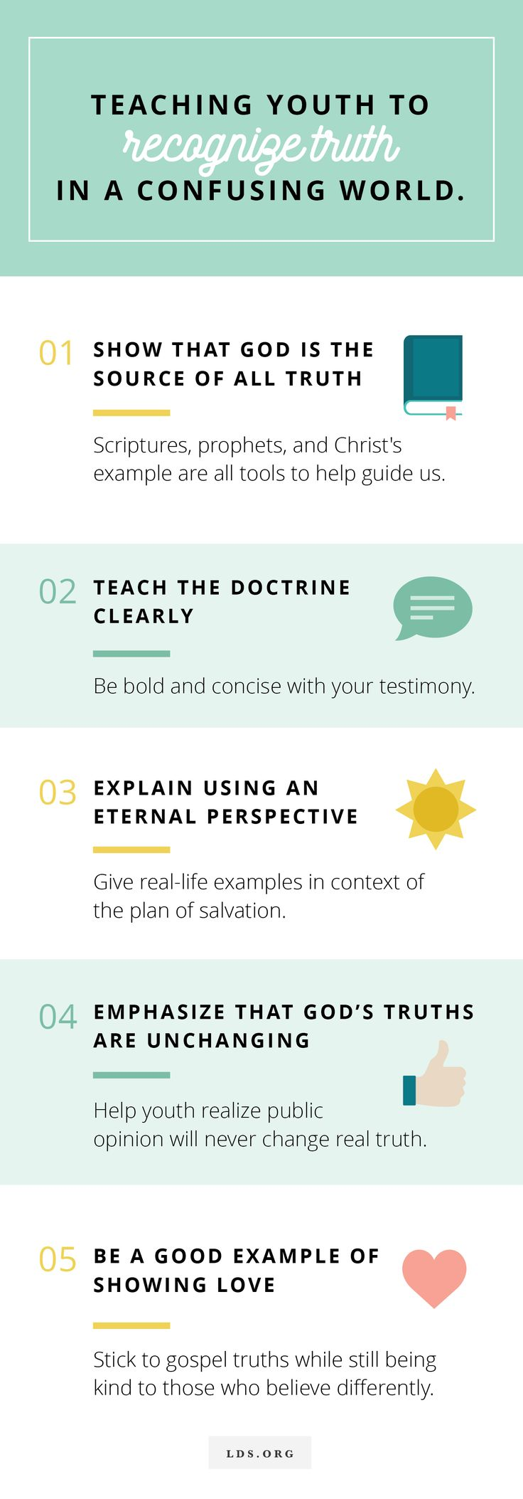 5 steps to teaching youth to recognize truth in a confusing world.