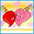Home : Birthday : Husband & Wife - A Kiss For U!