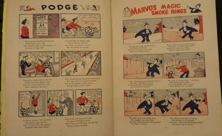 Pages 6 and 7 of Dandy Monster Comic 1947.