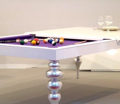 Billiards table also as dining table by MBM Billardi BilliardFactory.com