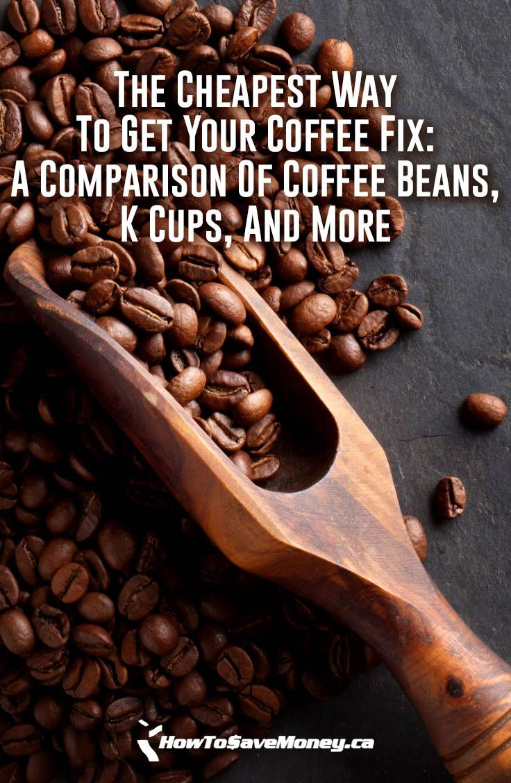 The Cheapest Way To Get Your Coffee Fix A Comparison Of Coffee Beans K Cups And More How To Save Money Coffee Beans Crazy Cups Coffee How To Make Coffee
