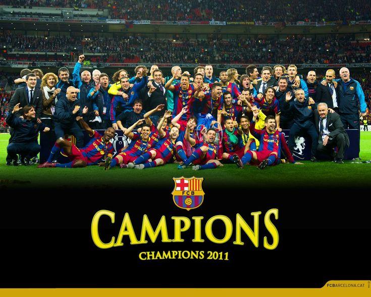 Barcalona wining Champions league 2011