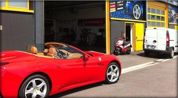 Gomme Service di Brescia, specializzato in pneumatici e cerchi in lega.