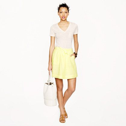 Boardwalk linen skirt jcrew