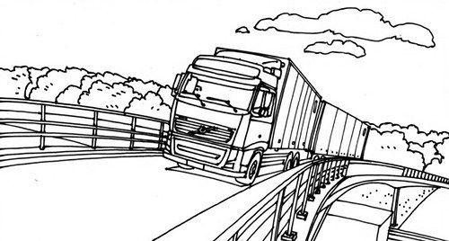 Dibujos de Trailers para Colorear: Imágenes de Camiones