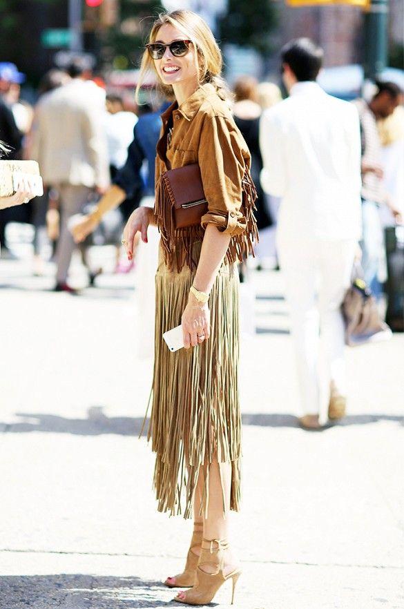 Street Style Trend Report: Fringe Skirts via @WhoWhatWear