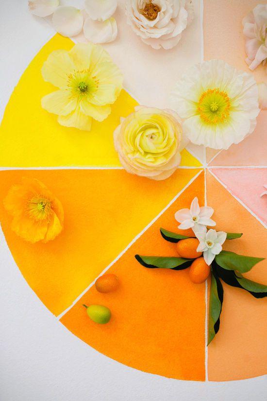 MOON CANYON FLORAL WORKSHOP | citrus color wheel